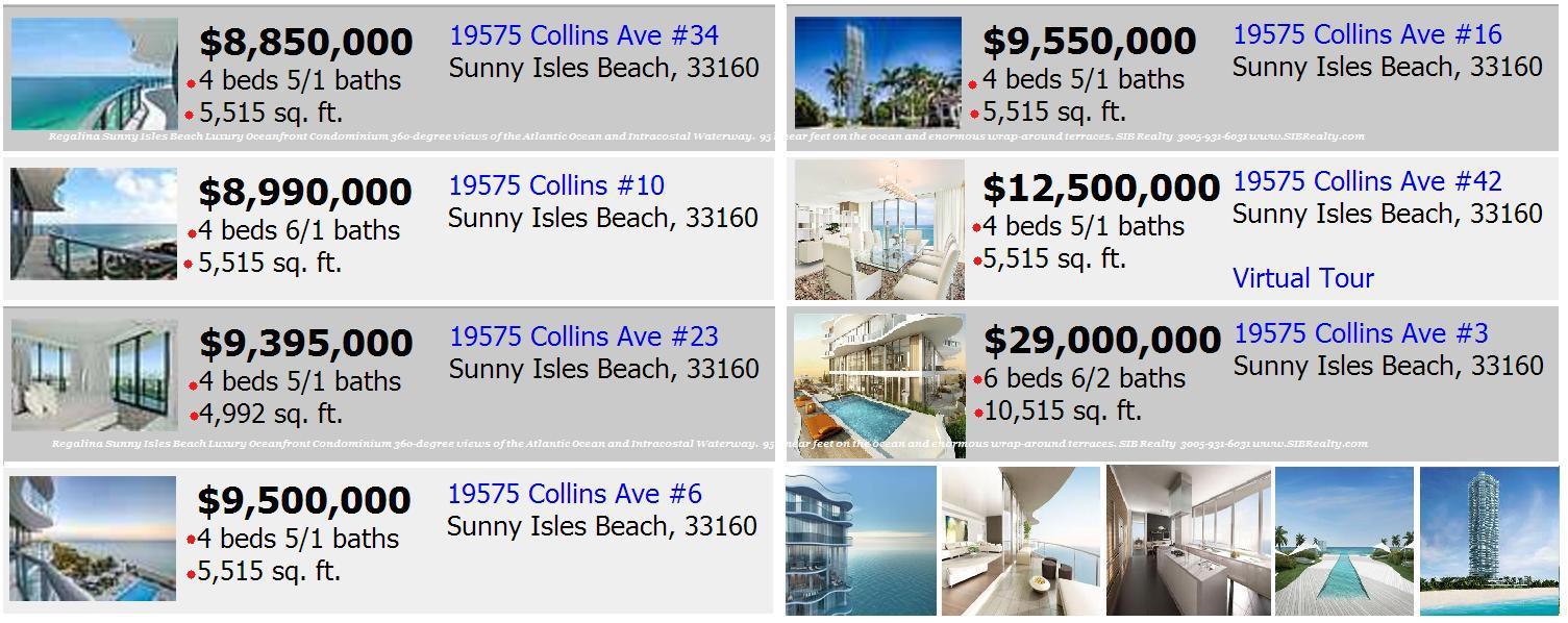 Regalia Sunny Isles Beach Condo For Sale
